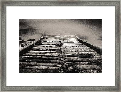 Framed Print featuring the photograph Down To The Water by Arkady Kunysz