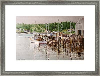 Framed Print featuring the painting Downeast Reflections by Karol Wyckoff