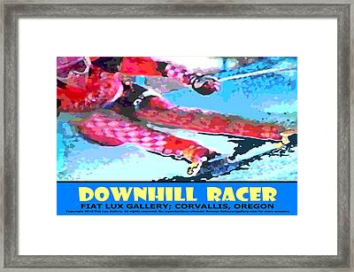Downhill Racer Framed Print by Mike Moore FIAT LUX