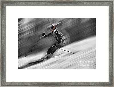 Downhill Skier  Framed Print by Dan Friend