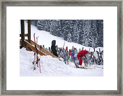 Downhill Skiing Framed Print by Elena Elisseeva