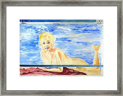 Downloading Framed Print by Geeta Biswas