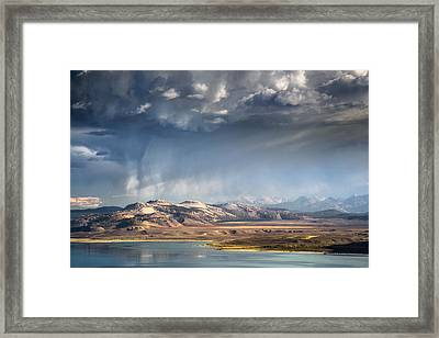 Downpour Over Crater Mountain Framed Print by Alexander Kunz