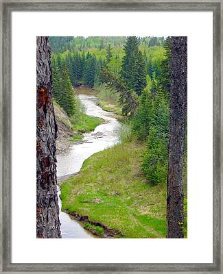 Downriver Framed Print by Jim Sauchyn