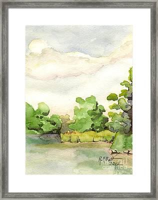 Downriver Napanee Framed Print
