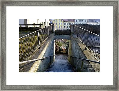 Downstairs Door Framed Print