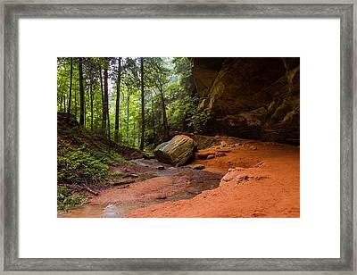 Downstream At Ash Cave Framed Print
