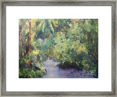 Framed Print featuring the painting Downstream by Mary Lynne Powers