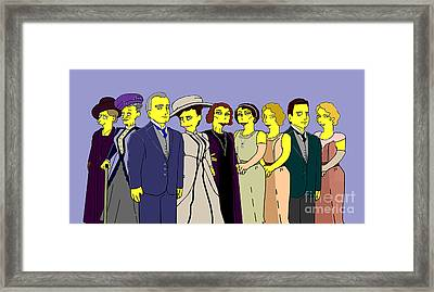 Downton Abbey - Cast Nine Framed Print by Donna Huntriss