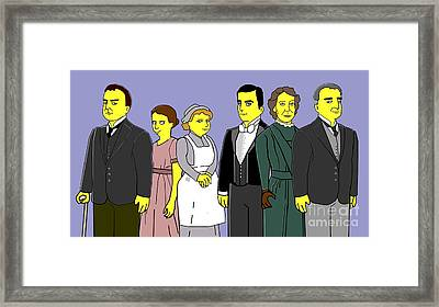 Framed Print featuring the digital art Downton Abbey - Downstairs 6 by Donna Huntriss