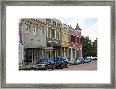 Downtown Abbevile Louisiana Framed Print