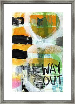 Downtown- Abstract Expressionist Art Framed Print by Linda Woods