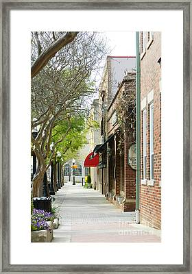 Downtown Aiken South Carolina Framed Print