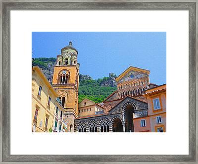Downtown Amalfi Italy  Framed Print by Irina Sztukowski