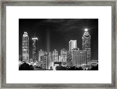 Downtown Atlanta Skyline Framed Print by Mark Andrew Thomas