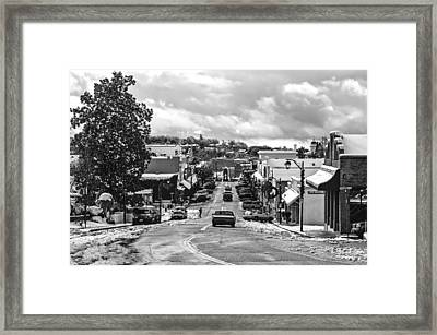 Framed Print featuring the photograph Downtown Auburn In The Snow 2 by Sherri Meyer