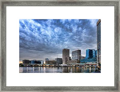 Downtown Baltimore Framed Print by Olivier Le Queinec