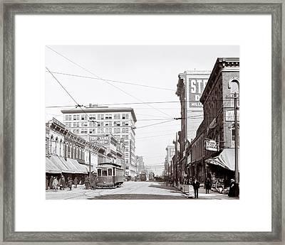 Downtown Birmingham Alabama - A Century Ago Framed Print by Mark E Tisdale
