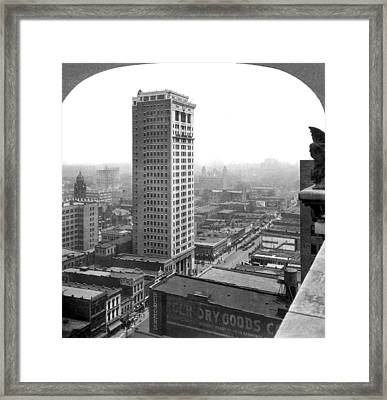 Downtown Birmingham Framed Print by Underwood Archives