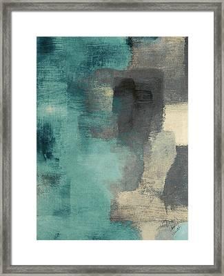 Downtown Blue Rain I Framed Print