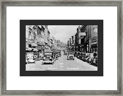 Downtown Bristol Va Tn 1931 Framed Print