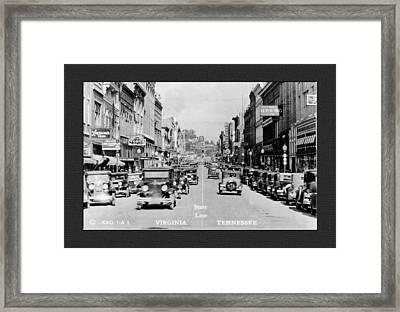 Downtown Bristol Va Tn 1931 Framed Print