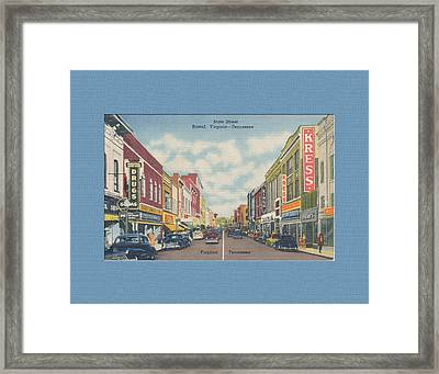 Downtown Bristol Va Tn 1940's Framed Print
