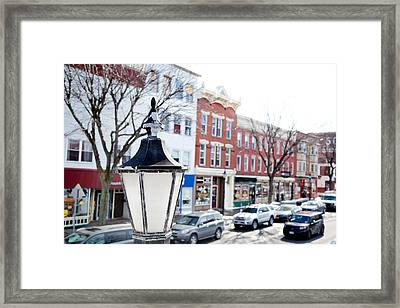 Framed Print featuring the photograph Downtown Brockport I by Courtney Webster