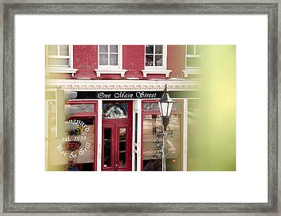Framed Print featuring the photograph Downtown Brockport II by Courtney Webster