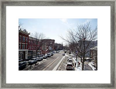 Framed Print featuring the photograph Downtown Brockport IIi by Courtney Webster