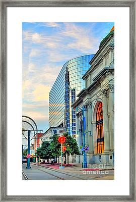 Downtown Buffalo Framed Print by Kathleen Struckle