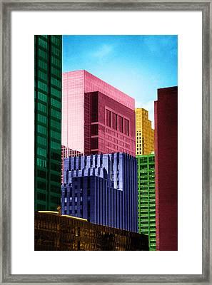 Downtown Building Blocks Framed Print
