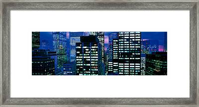 Downtown Buildings Toronto Ontario Framed Print by Panoramic Images