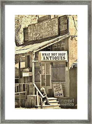 Downtown Cerrillos Framed Print