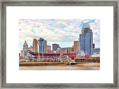 Downtown Cincinnati 9885 Framed Print