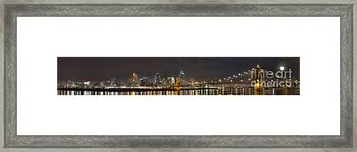 Downtown Cincinnati Panorama Framed Print by Twenty Two North Photography