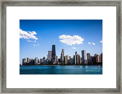 Downtown City Skyline Of Chicago Framed Print by Paul Velgos