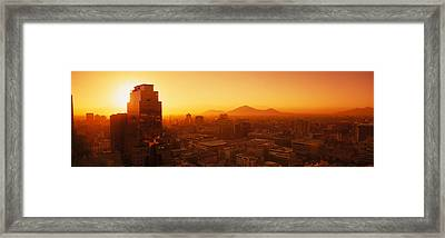 Downtown, Cityscape, Santiago, Chile Framed Print by Panoramic Images