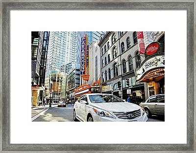 Downtown Crossing Framed Print by Joanne Brown