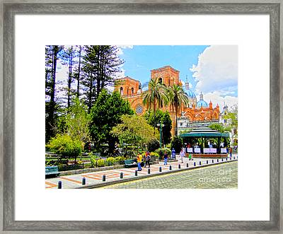 Downtown Cuenca Ecuador Framed Print by Al Bourassa