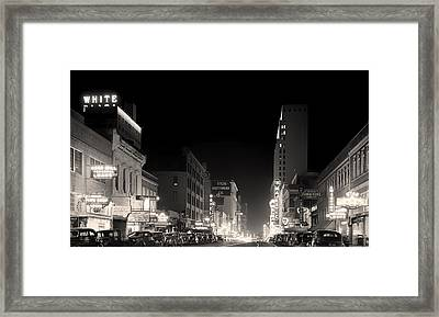 Downtown Dallas 1942 Framed Print