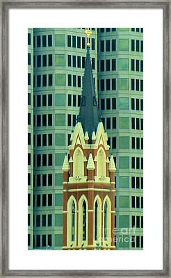 Downtown Dallas Framed Print by Janette Boyd