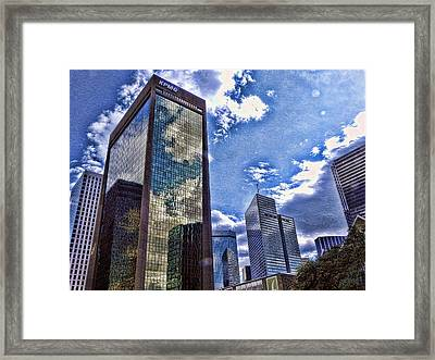 Framed Print featuring the photograph Downtown Dallas by Kathy Churchman