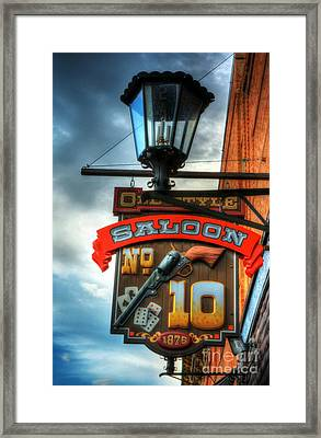Downtown Deadwood 3 Framed Print by Mel Steinhauer