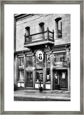 Downtown Deadwood 5 Bw Framed Print by Mel Steinhauer