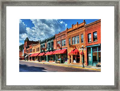 Downtown Deadwood Framed Print by Mel Steinhauer