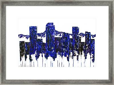 Downtown Denver Abstract Framed Print