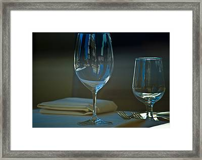 Downtown Dining Framed Print by Christi Kraft