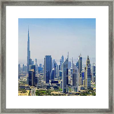 Downtown Dubai Framed Print by Joseph Plotz
