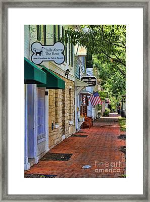 Downtown Dublin Ohio Framed Print